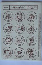 DDR Kult Typofix Haftdruckabreibfolie Rubbelbilder 4175 Tierkreiszeichen skuril