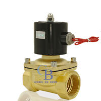 "DC 12V G3/8"" Brass Electric Solenoid Valve for Water Air Gas Normally Closed"