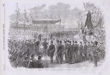 1870 KING OF HOLLAND LAYING FOUNDATION STONE OF AMSTERDAM SHIP CANAL LOCKS