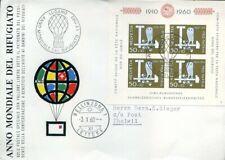 416380) Schweiz Pro Patria Block 17 auf Umschlag Ballonpost 1960