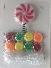 10 PC PEPPERMINT SUGAR XMAS MINI TREE TOPPER ORNAMENT CANDYLAND GIFT GARLAND