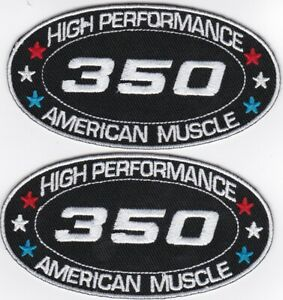 CHEVY 350 SEW/IRON ON PATCH EMBLEM BADGE EMBROIDERED EL CAMINO CHAVELLE MALIBU