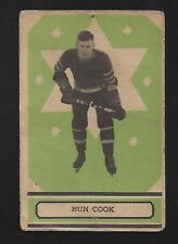 1933 OPC V304B #72 Bun Cook RC HOF, Vintage New York Rangers NHL Hockey 1933-34