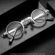 Retro Round Reading Glasses Folding Blue-Light Blocking Lens Ultra thin - Lennon