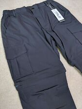 Nonwe Men's Outdoor Quick Dry Water-resistant Cargo Pants 30W/30L Gray NWT Patag