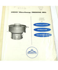 LOT OF (3) SWECO VIBRO-ENERGY FINISHING MILL MANUALS  (W-4-BOX 9-29-RCT)