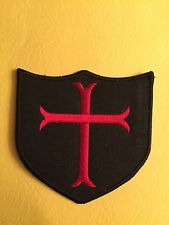 KNIGHTS CRUSADER CROSS SHIELD NAVY SEAL PATCH IRON ON SEW ON
