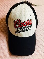 Coors Light One Size Black/White Adjustable Beer Hats.