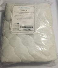 NATURAL COTTON FITTED WATERPROOF QUILTED CRADLE MATTRESS PAD