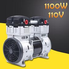 1100w 7cfm Oilfree Diaphragm Vacuum Pump Air Compressor Head 200lmin 8 Bar 110v