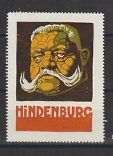 US Poster Stamp WWI Caricature Hindenburg