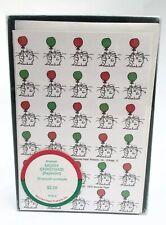 Vintage 1981 Box Of 20 Sandra Boynton Cats W/balloons Christmas Cards