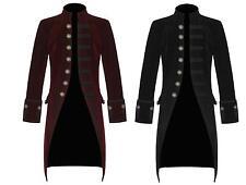 Men's Handmade Jacket Red and Black Velvet Goth Steampunk Victorian Frock Coat