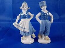 Zwei kleine Porzellanfiguren WAGNER & APEL Holland Pärchen Niederlande 11cm