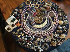 Huge lot vintage costume jewelry Estate signed Dalsheim Sterling Denmark Coro