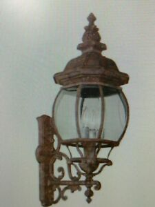 Trans Globe 4052 RT Outdoor Wall  LANTERN Light  WITH Beveled Glass Shades(#17AB