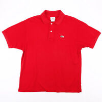 Vintage LACOSTE  Red Classic Short Sleeve Polo Shirt Mens L