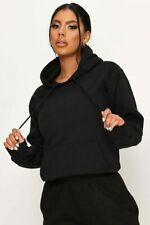 Womens Ladies Pullover Hoodie Plain Fleece Jumper Top Hooded Jacket Sweatshirt
