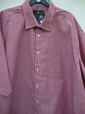 Men's Regular Collar Short Sleeve Striped Polycotton Casual Shirts & Tops