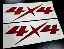 2 x 4X4 LOGO STICKER BADGE DECALS EMBLEM DMAX D-MAX HILUX RANGER BT50 NAVARA UTE