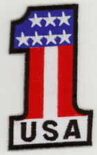 """USA #1 Flag Biker Embroidered Patches 3.25""""x2"""""""