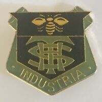 THS High School College Industria Bee Pin Badge Rare Vintage (N3)