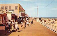 Rehoboth Beach Delaware 1960s Postcard Beach & Boardwalk Stores