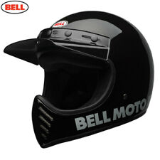 BELL MOTO 3 HELMET - CLASSIC BLACK - MX - **FAST FREE DELIVERY**