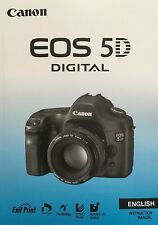 Canon EOS 5D Manual - Printed & Professionally Bound Size A5 - NEW 184 Pages