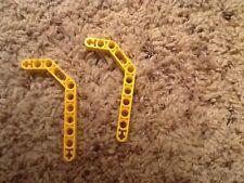 LEGO lot of 2 YELLOW 3 x 3.8 x 7 TECHNIC BEAM BENT 45 DOUBLE  (32009)