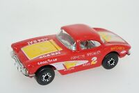 1982 Vintage Matchbox 1962 Corvette 454 Rat 1/58 Red Race Car