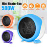 220V 500W Mini Portable Electric Desktop Heater Fan Fast Air Heater Home  □□