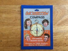 2017 WACKY PACKAGES 50TH ANNIVERSARY BLUE STICKER ONE DIRECTION COMPASS MUSIC 8