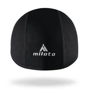 Miloto Waterproof Cycling Skull Cap Winter Thermal Cycling Hat Black Windproof