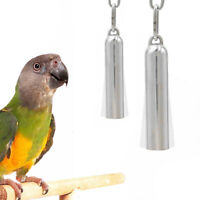 Stainless Steel Hanging Bell Bird Parrot Cage Bite Toy Swing Stand Bells Toys h8