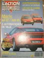 L'action automobile et touristique N° 316 1987 AX GT 205 XS Pescarolo Auto rétro