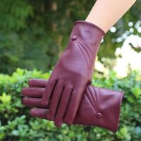 Fashion New Warm Female Models Touch Screen PU Material Leather Gloves Gloves