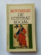 DU CONTRAT SOCIAL 1966 ROUSSEAU GARNIER FLAMMARION