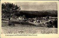 Hinterhermsdorf sächsische Schweiz DDR Postkarte 1968 Gesamtansicht Panorama