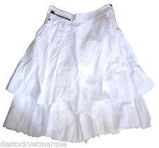 LOIS jupe blanche femme à volants