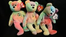 1 only  Vintage Peace TY Beanie Baby #4053 NWT Mistakes,yellow star PVC Pellets