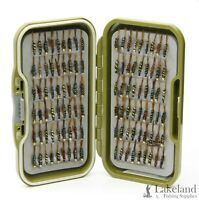 Waterproof Fly Box + Holographic Diawl Bach Nymph's Trout Flies for Fly Fishing