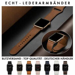 Premium Echte Leder Armband für Apple Watch Band Series 6/5/4/3 44mm 42mm 40mm
