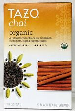 Tazo Chai Organic Spiced Black Tea 20 Tea Bags 1.9 oz
