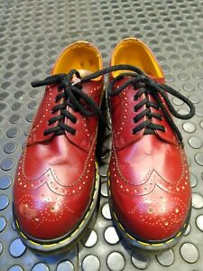 Dr Martens Wingtip Steeltoe Cherry Red Size 8UK Real Vintage Rare Item