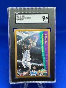 1992-93 Fleer, Shaquille O'Neal #298 SGC9 SLAM DUNK ROOKIE!