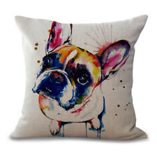 French Bull Dog / Bull Breed Linen Cushion Cover - Gift Home Decor - Quality UK