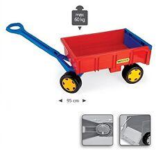 Handwagen Traktor Hänger Wader Anhänger für Gigant Truck Kinder Spielzeug rot