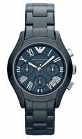 Emporio Armani AR1470 Dark Blue Ceramic Chronograph Womens Watch
