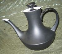 Block Espana Noche Black Matte Ceramic Coffee Pot Tea Pot Espresso Pot with Lid